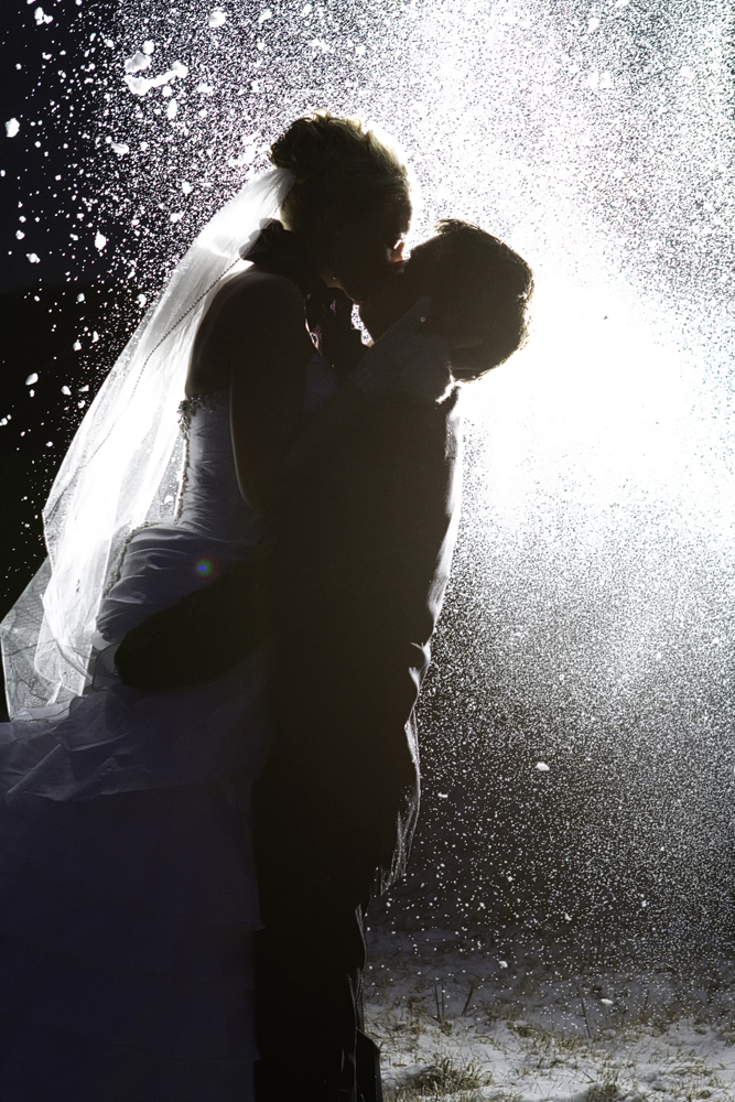 Winter Wedding Snow photos