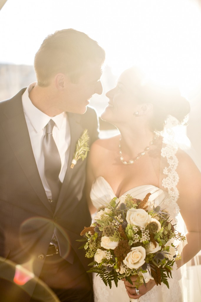Sun Burst Wedding Photo
