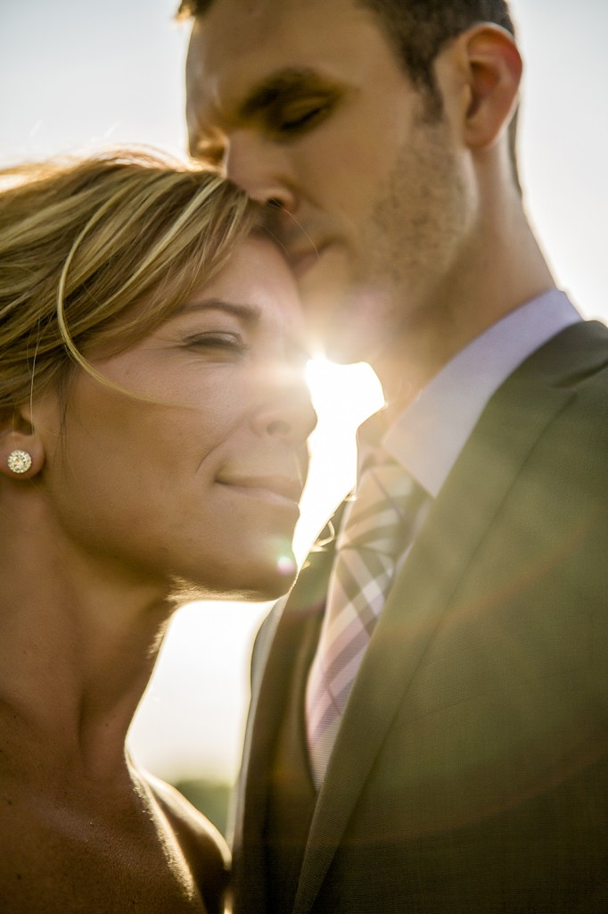 Sunburst Wedding Photo