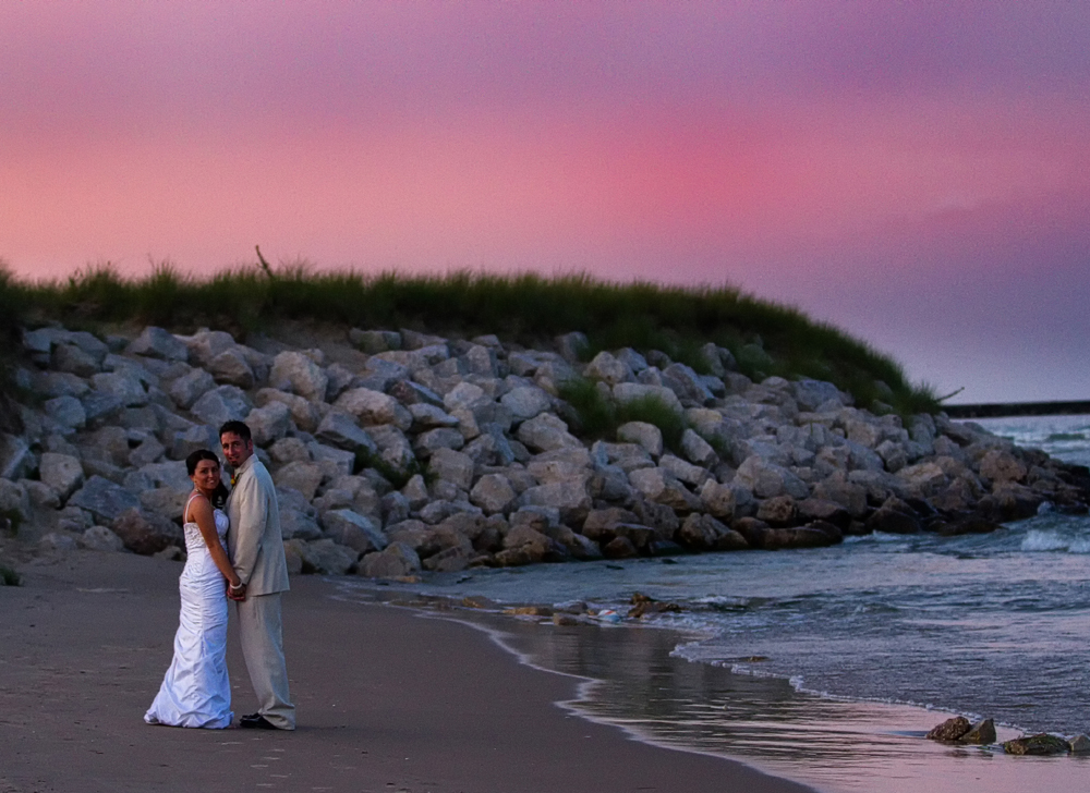 Beach Wedding Sheboygan Wisconsin