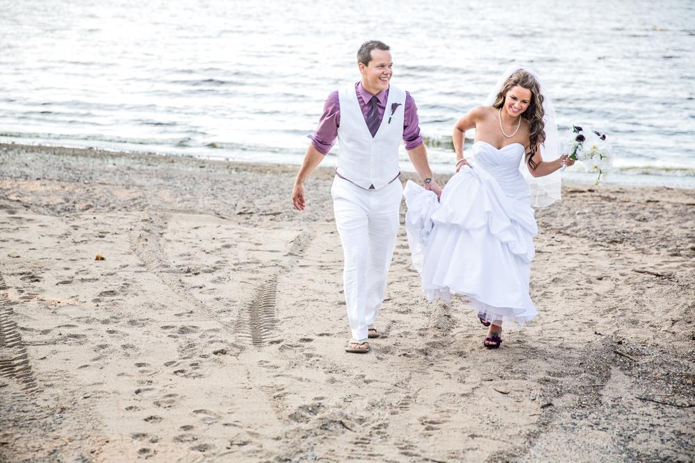 beach wedding photo lake city mn