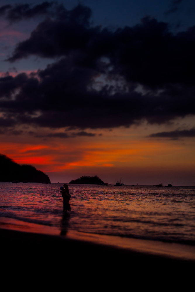 costa rica wedding beach sunset