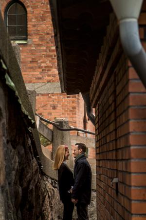 Engagement Photographer Sweden alley