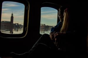 Engagement Photographer Sweden boat