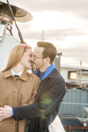 Engagement Photographer on boat