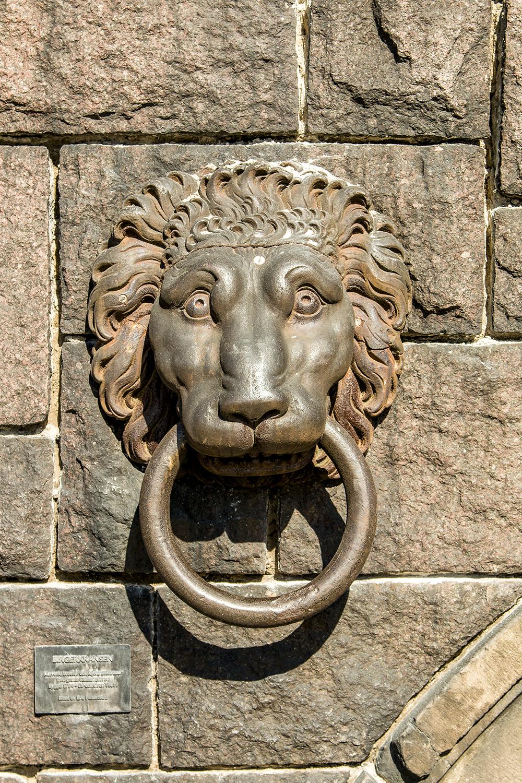 Stockholm Stadshusparken lion