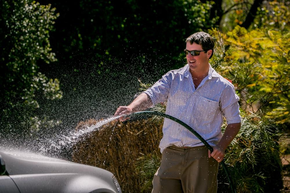 groomsman  washing car Brisbane wedding (6)