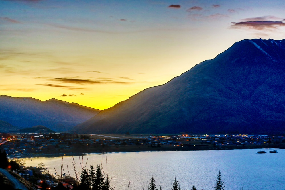 sunset Queenstown NZ
