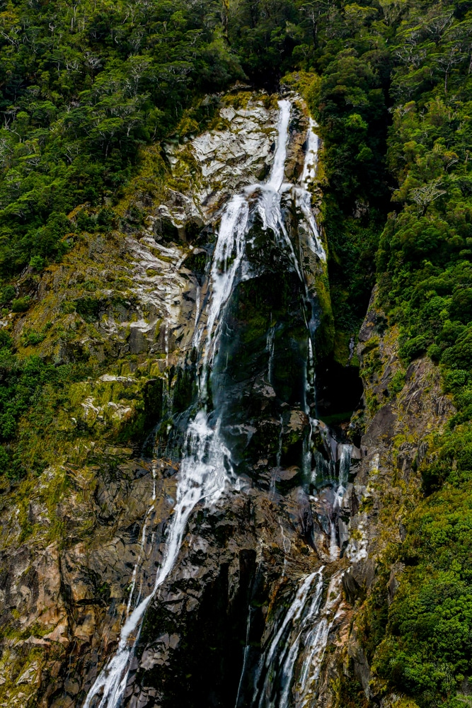 Milford Sound NZ Water fall