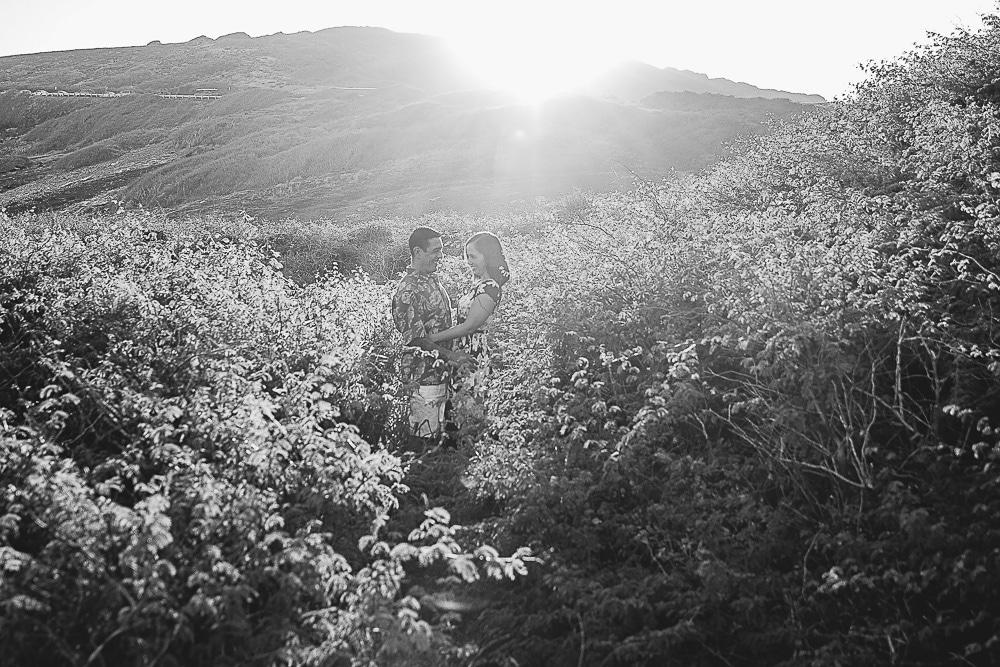 california couple in nature