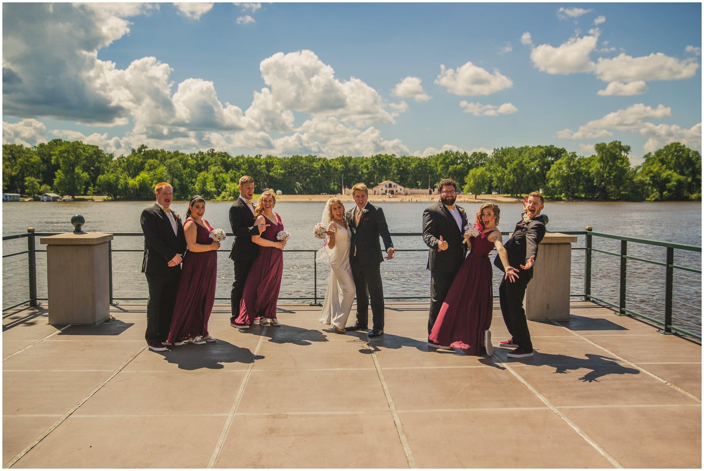 la crosse center riverside wedding box car photography