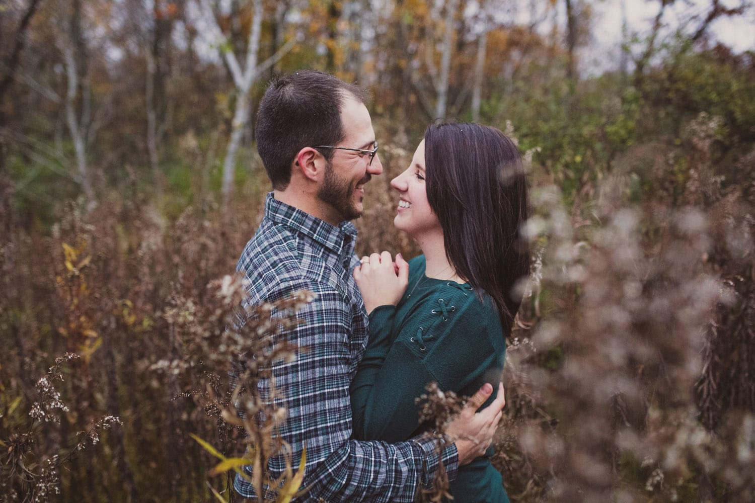 Couple in Hixon Forest Engagement