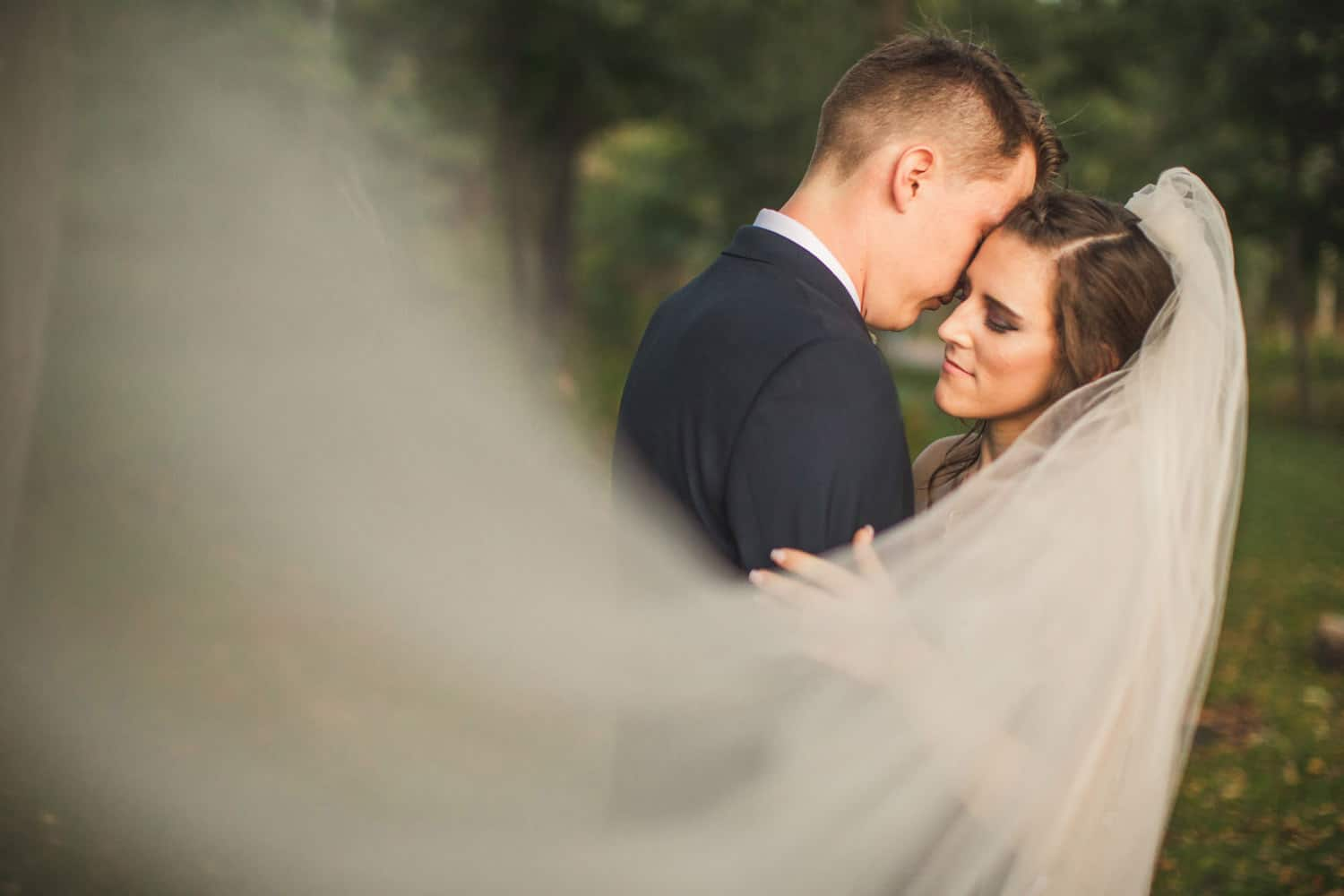 couple intimate with veil