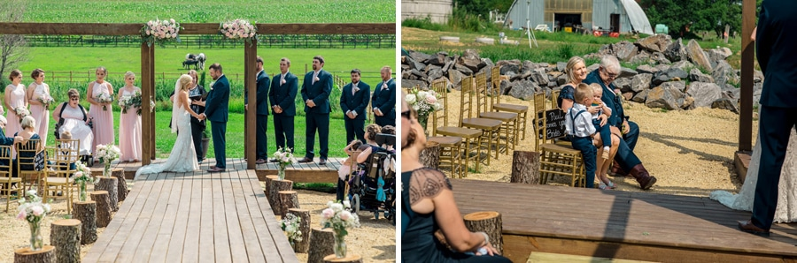 On a whim Barn Wedding