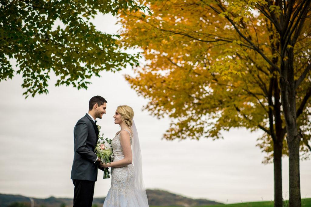 Fall Wedding at La Crosse Country Club