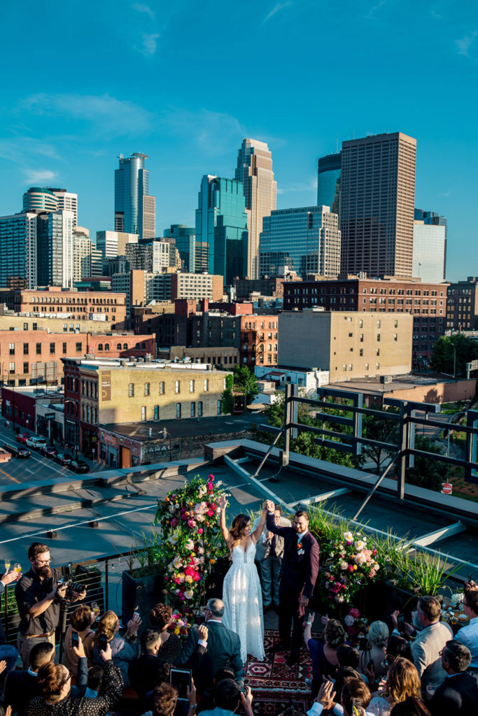 Rooftop Wedding Minneapolis