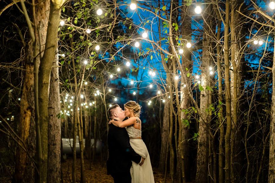 Twinkle light wedding