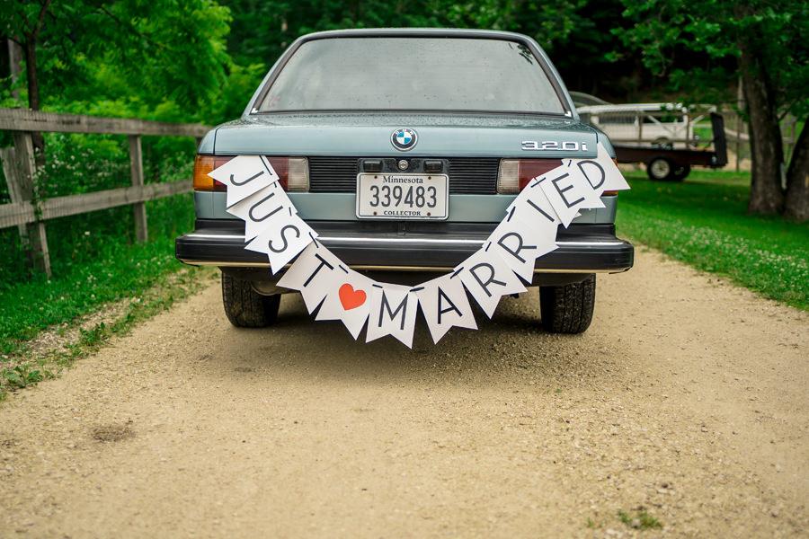 Backyard Minnesota Wedding